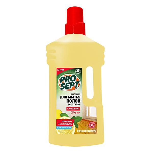 Концентрированное средство для очищения пола Multipower с ароматом цитруса 1 л