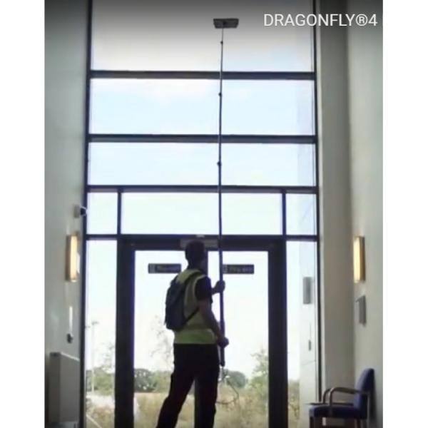 Оборудование для высотной мойки окон и остекления внутри помещения STREAMLINE-DRAGONFLY4-001