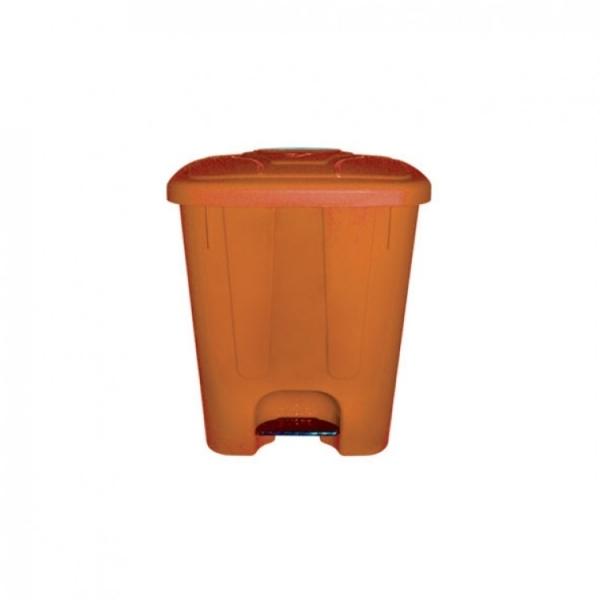 Мусорный бак пластиковый с крышкой с педалью TELKAR 65л.