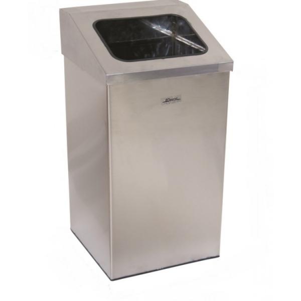 """Урна для мусора """"Имидж"""" с наклоненным открытым отверстием 79 л.1362 ARI METAL"""