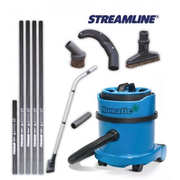 Пылесос с телескопической штангой для чистки пыли и грязи в труднодоступных высоких местах STREAMLINE DV-KIT230-2-032