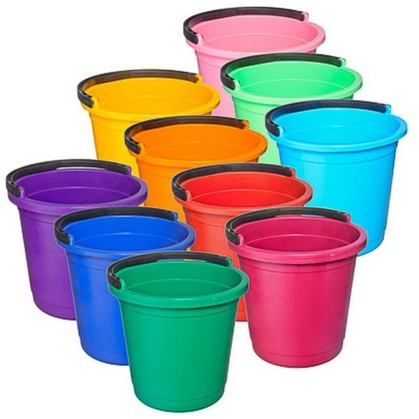 Ведро 10 литров цветное