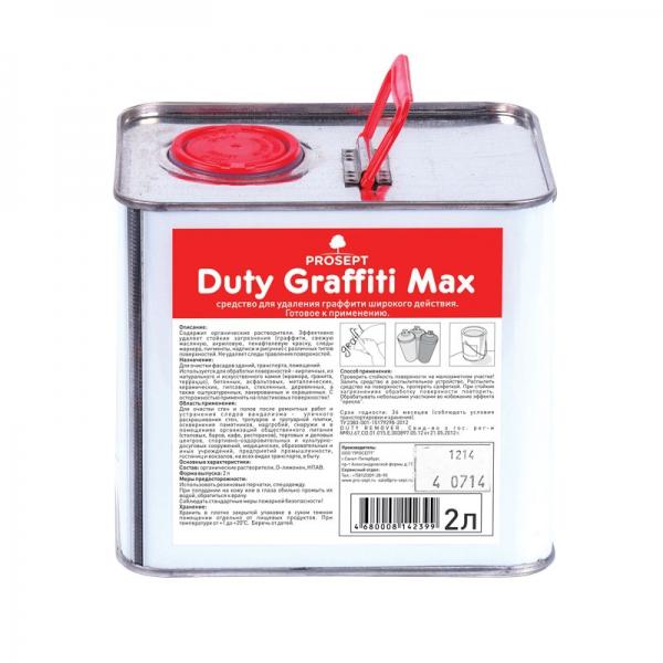 Средство для удаления граффити широкого действия Duty Graffiti Max 2л