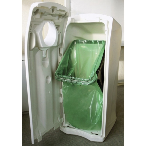 Урна для мусора с боковым отверстием крышка открывается спереди внутри спецустановка для мусорного мешка 140л. 81692 LEAFIELD