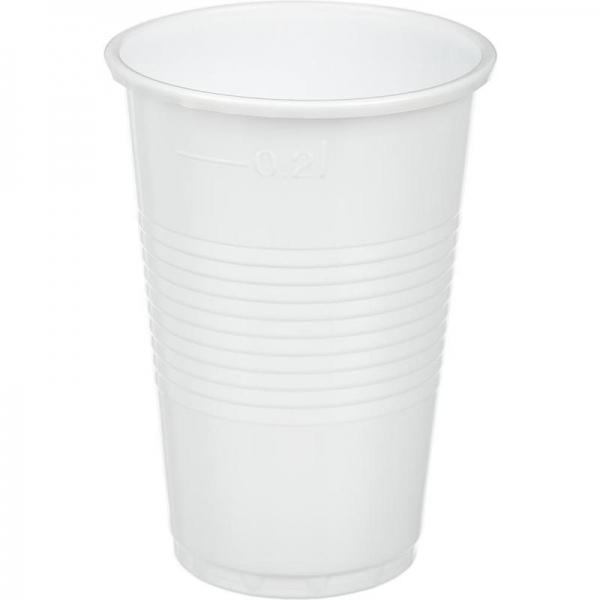 Стакан 0.2 белый (в упаковке 100 шт.)