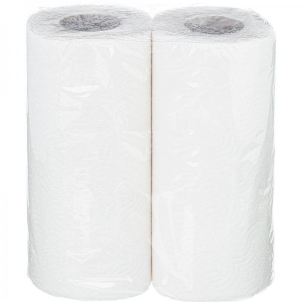 Полотенца бумажные 2 рулона, 2 слоя