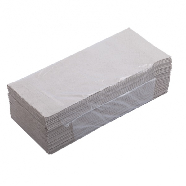 Полотенца листовые V сложения, 250 листов, 1 слой,  макулатура