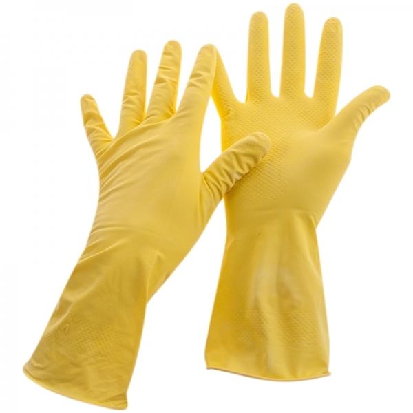 Перчатки  латексные желтые без напыления (р-р L)