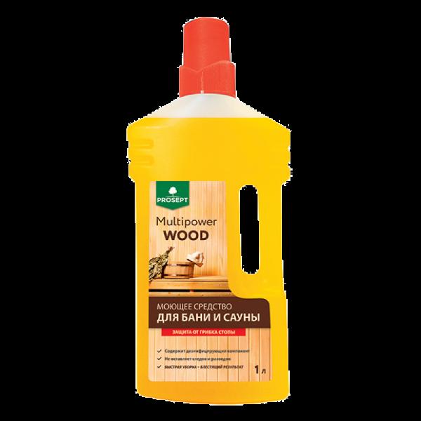 Нейтральное моющее средство для мытья бань и саун Multipower Wood 1л