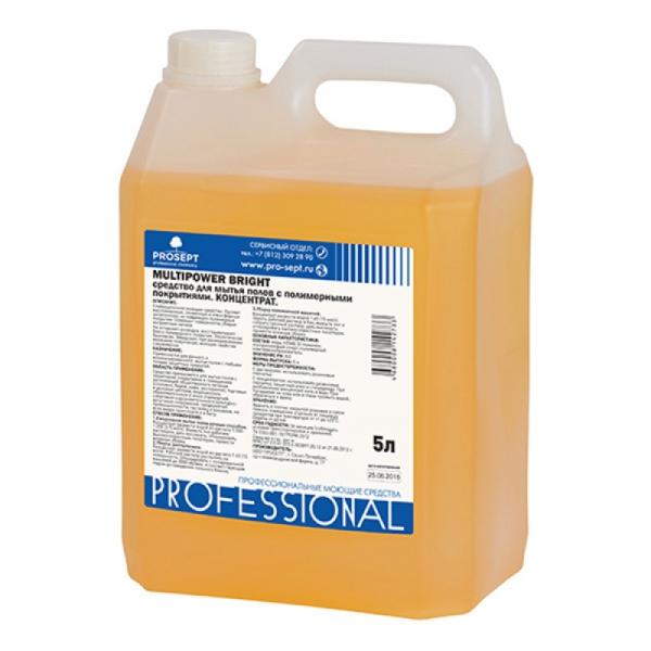 Средство для мытья полов с полимерными покрытиями Multipower Bright 5л