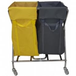 Тележка для белья и для мусора, 2 раздельных мешка, общий объем 300 л. CTX 3422 Турция