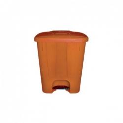 Мусорный бак пластиковый с крышкой с педалью TELKAR 25л.