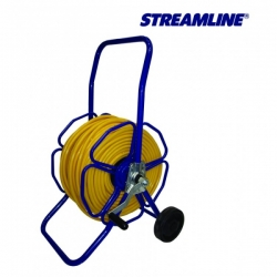 Катушка для шланга металическая с колесами шланг ECOLINE 8 мм. в комплекте. Длина шланга 100 м STREAMLINE V-SBH25-M-023
