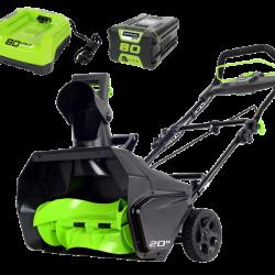Снегоуборочная машина аккумуляторная Greenworks 80 В 2600107UB