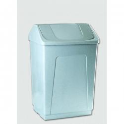 Ведро пластиковое белое с плавающей белой крышкой 242602 DENOX 55л.