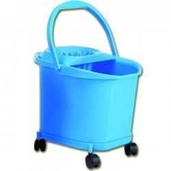 Ведро пластиковое обьем 16 л. на колесах с отжимом для мопа  DENOX 100л.