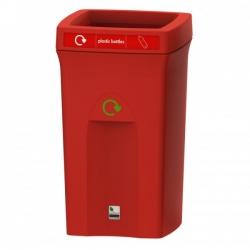 Контейнер для мусора пластиковый с открытой крышкой 81155 100л. LEAFIELD