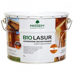 Лессирующий антисептик с воском и льняным маслом. PROSEPT BiO LASUR 9 л