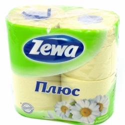 """Туалетная бумага """"ZEWA"""" 2 слоя, 4 шт. в ассортименте"""