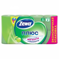 """Туалетная бумага """"ZEWA"""" 2 слоя, 8 шт. в ассортименте"""